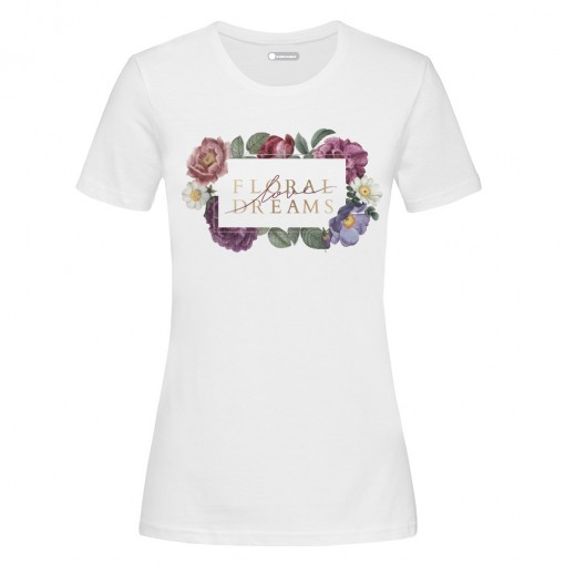 "T-Shirt donna ""Floral love..."