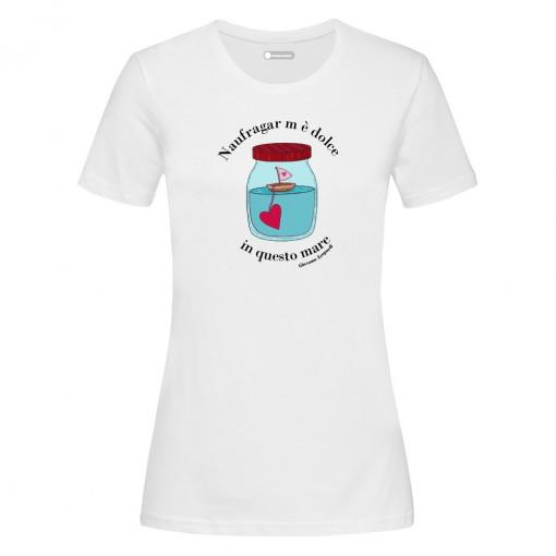 """T-Shirt """"Naufragar m'è..."""