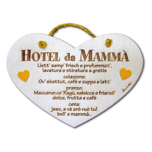 """Targa Cuore """"Hotel da mammà"""""""