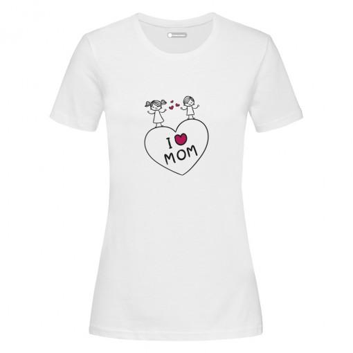 "T-Shirt donna ""I Love Mom"""
