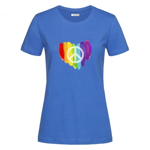 "T-Shirt donna ""Cuore Peace"""
