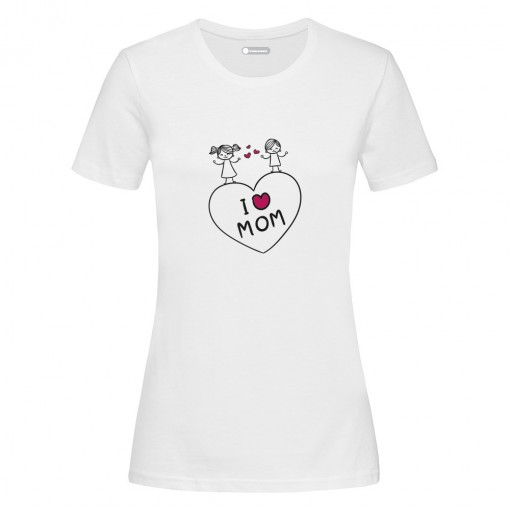 "T-Shirt donna ""I Love Mom"""