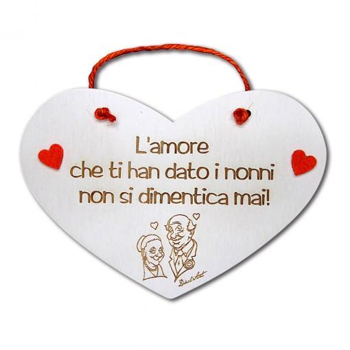 """Targa Cuore """"L'amore che ti..."""
