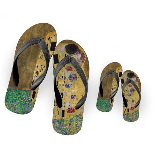 """Ciabatta infradito """"Klimt""""..."""